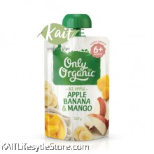 ONLY ORGANIC Apple,Banana & Mango (120gm)