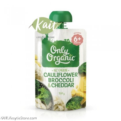 ONLY ORGANIC Cauliflower Broccoli & Cheddar (120gm)