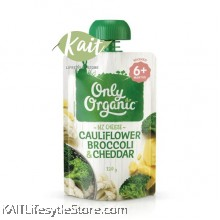 ONLY ORGANIC Cauliflower Broccoli & Cheddar (120gm)
