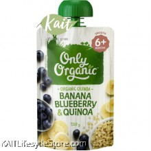 ONLY ORGANIC Banana Blueberry & Quinoa (120gm)