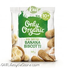 ONLY ORGANIC Banana Biscotti (100gm)