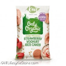 ONLY ORGANIC Strawberry  Yogurt rice cake (60gm)