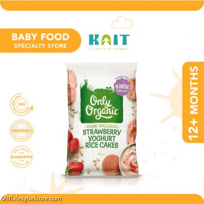 ONLY ORGANIC Strawberry Yogurt rice cake (60gm) [12m+]
