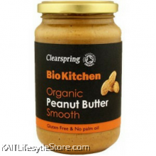 CLEARSPRING Peanut butter Smooth , Organic (350gm)