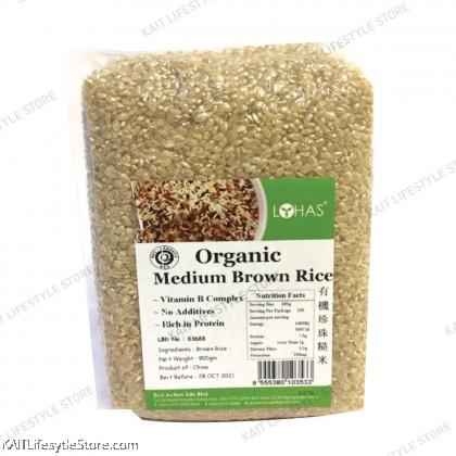 LOHAS Organic Medium Brown Rice (900gm)