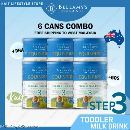 BELLAMY'S ORGANIC: Step 3 Toddler Milk Drink [BUY 6 Free Shipping Combo] 6x900gm with Free Gift