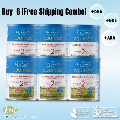 BELLAMY'S ORGANIC: Step 2 Follow-On Formula [BUY 6 FREE SHIPPING COMBO] 6X900GM WITH FREE GIFT [New Formula]