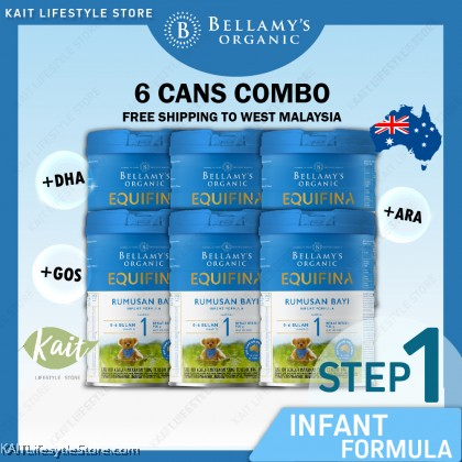 BELLAMY'S ORGANIC: Step 1 Infant Formula [BUY 6 FREE SHIPPING COMBO] 6X900GM [New Formula] WITH FREE GIFT