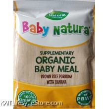 BABY NATURA: Organic Brown Rice Porridge - Banana (20g) Single Sachet