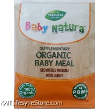 BABY NATURA: Organic Brown Rice Porridge - Carrot (20g) Single Sachet