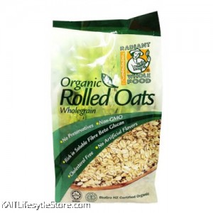 RADIANT Organic Rolled Oats Wholegrain (500g)