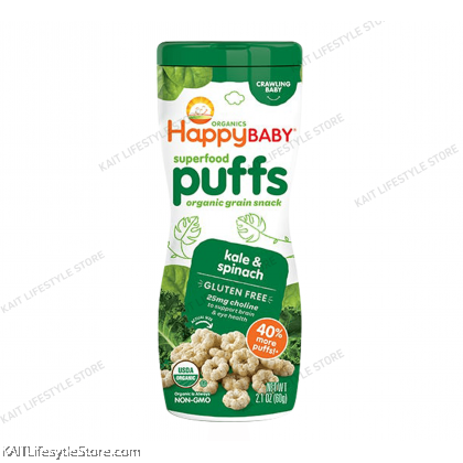 HAPPYBABY Organic Superfood Puffs