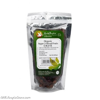 HEALTH PARADISE Organic Super 3 Mixed Fruits (200gm)