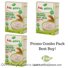 BABY NATURA: Organic Brown Rice Porridge - Regular (120gx3 Box) [Trio Combo]