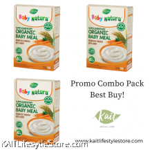 BABY NATURA: Organic Brown Rice Porridge - Carrot (120gx3 Box)[Trio Combo]