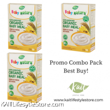 BABY NATURA: Organic Brown Rice Porridge - Banana (120gx3 Box)[Trio Combo]