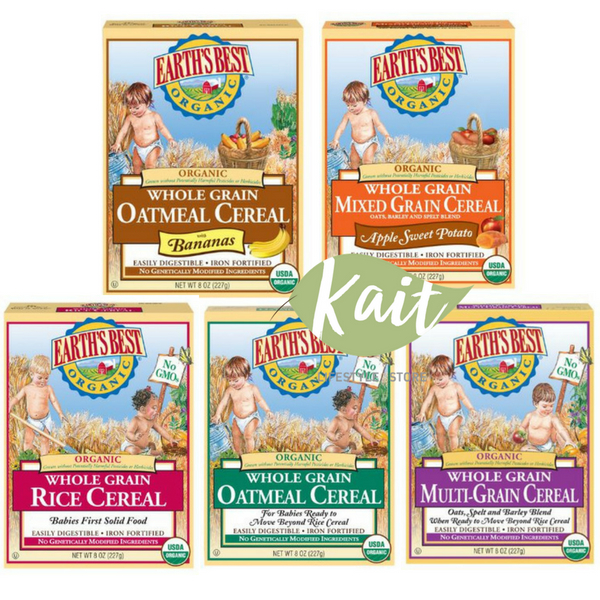 Earth S Best Organic Whole Grain Baby Cereal
